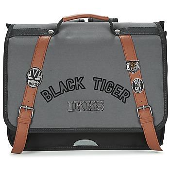 Tašky Chlapci Školské tašky a aktovky Ikks BLACK TIGER CARTABLE 38CM čierna / šedá / Hnedá