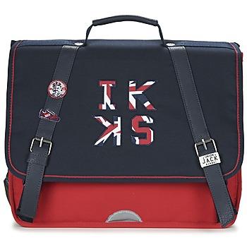 Tašky Chlapci Školské tašky a aktovky Ikks UNION JACK CARTABLE 38CM Námornícka modrá / červená