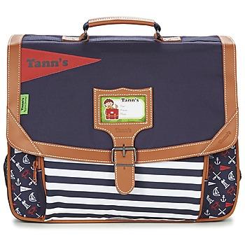 Tašky Chlapci Školské tašky a aktovky Tann's JESUS SAUVAGE CARTABLE 38CM Námornícka modrá