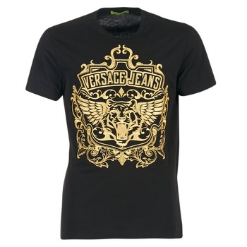 Oblečenie Muži Tričká s krátkym rukávom Versace Jeans B3GQB7T2 čierna / Zlatá