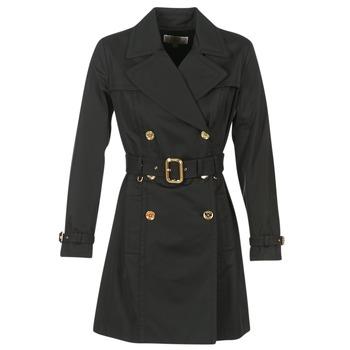 Oblečenie Ženy Kabátiky Trenchcoat MICHAEL Michael Kors PLEATED TRENCH Čierna