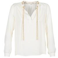 Oblečenie Ženy Blúzky MICHAEL Michael Kors SLIT L/S CHAIN Krémová