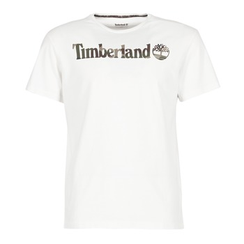 Oblečenie Muži Tričká s krátkym rukávom Timberland DUNSTAN RIVER CAMO PRINT Biela