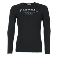 Oblečenie Muži Tričká s dlhým rukávom Kaporal PONIO čierna