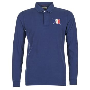 Oblečenie Muži Polokošele s dlhým rukávom Serge Blanco POCHON Námornícka modrá