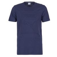 Oblečenie Muži Tričká s krátkym rukávom Puma ARCHIVE EMBOSSED LOGO TEE Námornícka modrá