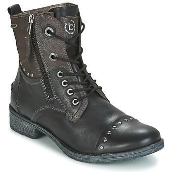Topánky Ženy Polokozačky Bugatti PIERA čierna / šedá / Dark