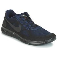 Topánky Muži Bežecká a trailová obuv Nike FREE RUN 2017 SHIELD čierna / Modrá