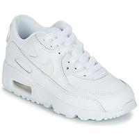 Topánky Chlapci Nízke tenisky Nike AIR MAX 90 LEATHER PRE-SCHOOL Biela