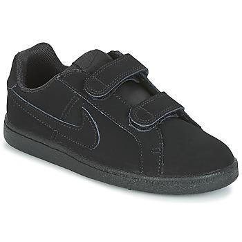 Topánky Chlapci Nízke tenisky Nike COURT ROYALE PRE-SCHOOL čierna