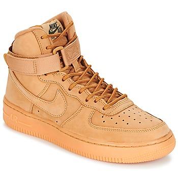 Topánky Deti Členkové tenisky Nike AIR FORCE 1 HIGH WB GRADE SCHOOL Svetlá hnedá medová