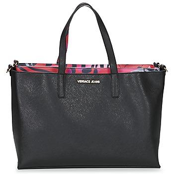 Tašky Ženy Veľké nákupné tašky  Versace Jeans ANTALOS čierna / červená / Viacfarebná