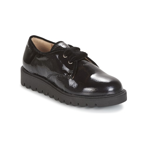 Topánky Dievčatá Derbie Unisa MICK Čierna