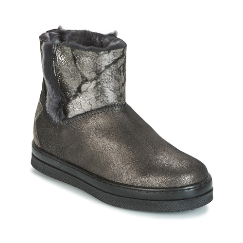 Topánky Dievčatá Polokozačky Unisa FIS Strieborná