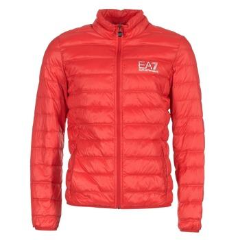 Oblečenie Muži Vyteplené bundy Emporio Armani EA7 TRAIN CORE ID DOWN LIGHT JKT Červená