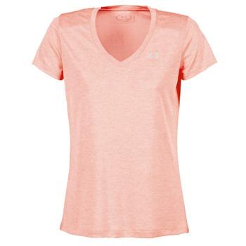 Oblečenie Ženy Tričká s krátkym rukávom Under Armour TECH SSV - TWIST Koralová