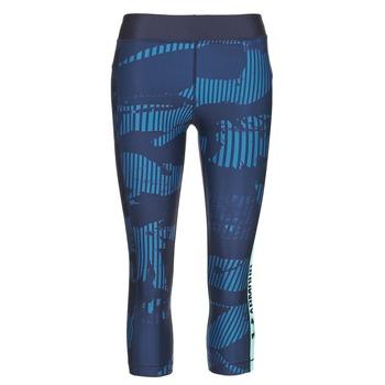 Oblečenie Ženy Legíny Under Armour UA HG ARMOUR GRAPHIC CAPRI Modrá