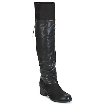 Topánky Ženy Vysoké čižmy Mjus SHAGGY čierna