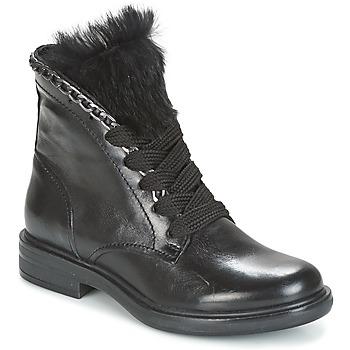 Topánky Ženy Polokozačky Mjus CAFE LACE Čierna