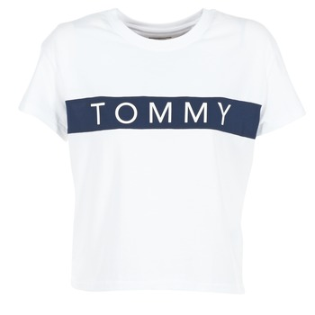 Oblečenie Ženy Tričká s krátkym rukávom Tommy Jeans THDW CN T-SHIRT S/S 26 Biela / Námornícka modrá