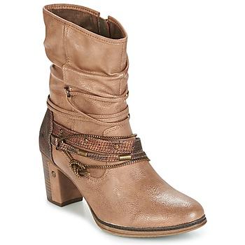Topánky Ženy Čižmičky Mustang BUNDEN Béžová