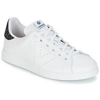 Topánky Ženy Nízke tenisky Victoria DEPORTIVO BASKET PIEL Biela / Modrá