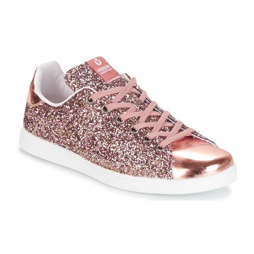 Topánky Ženy Nízke tenisky Victoria DEPORTIVO BASKET GLITTER Ružová