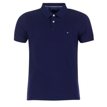 Oblečenie Muži Polokošele s krátkym rukávom Tommy Hilfiger LUXURY SLIM FIT TIPPED Námornícka modrá