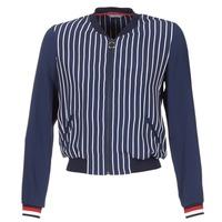 Oblečenie Ženy Saká a blejzre Tommy Hilfiger NALOME GLOBAL STP BOMBER Námornícka modrá / Biela / Červená