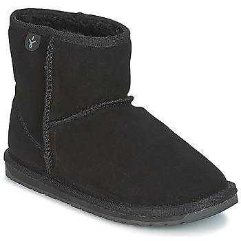 Topánky Deti Polokozačky EMU WALLABY MINI Čierna