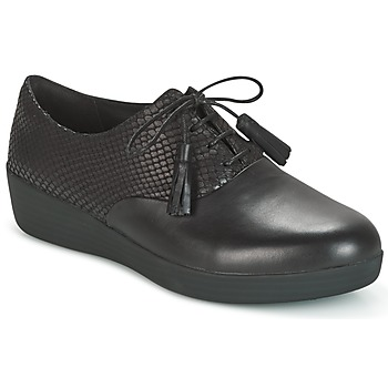 Topánky Ženy Derbie FitFlop CLASSIC TASSEL SUPEROXFORD Čierna / Hadí vzor