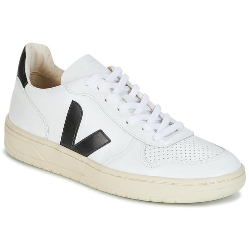 Topánky Nízke tenisky Veja V-10 Biela / Čierna