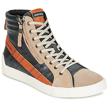 Topánky Muži Členkové tenisky Diesel D-STRING PLUS Antracitová / Ťavia hnedá