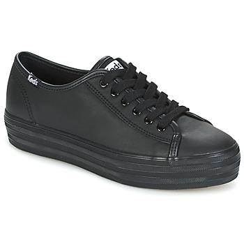 Topánky Ženy Nízke tenisky Keds TRIPLE KICK CORE LEATHER Čierna