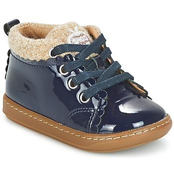 Topánky Dievčatá Polokozačky Shoo Pom BOUBA WOOL Námornícka modrá / Béžová