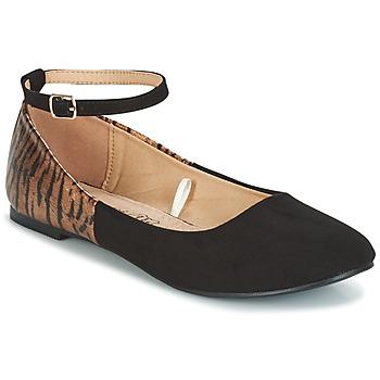 Topánky Ženy Balerínky a babies Moony Mood GLIMY čierna