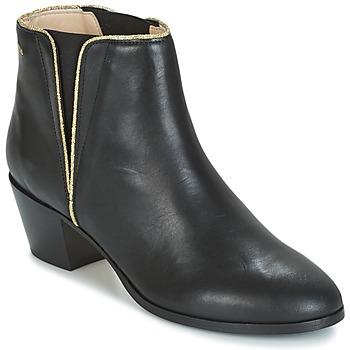Topánky Ženy Čižmičky M. Moustache JEANNE.M čierna / Zlatá
