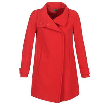 Oblečenie Ženy Kabáty Benetton MERCRA Červená