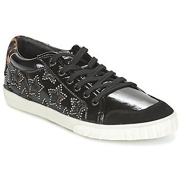 Topánky Ženy Čižmičky Ash MAJESTIC BIS Čierna / Strieborná
