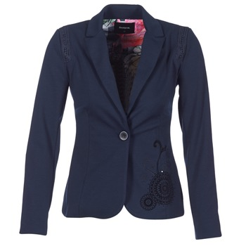 Oblečenie Ženy Saká a blejzre Desigual GROFA Námornícka modrá