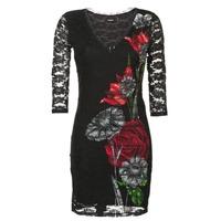 Oblečenie Ženy Krátke šaty Desigual GRAFE Čierna