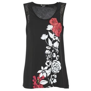 Oblečenie Ženy Tielka a tričká bez rukávov Desigual MAGEIS Čierna