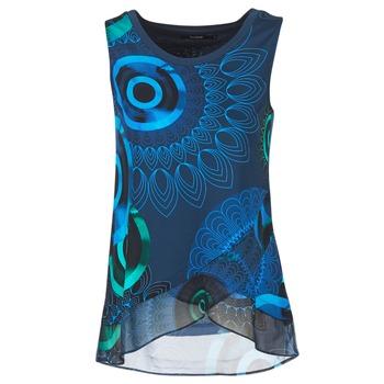 Oblečenie Ženy Tielka a tričká bez rukávov Desigual TAMAC Modrá