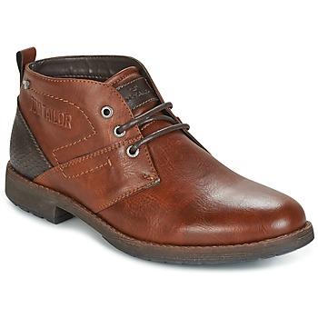 Topánky Muži Polokozačky Tom Tailor LAORA Hnedá