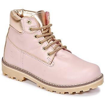 Topánky Dievčatá Polokozačky Citrouille et Compagnie HICHOU Ružová