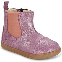 Topánky Dievčatá Polokozačky Citrouille et Compagnie HUETTE Ružová