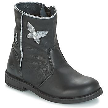 Topánky Dievčatá Polokozačky Citrouille et Compagnie HORELI Čierna