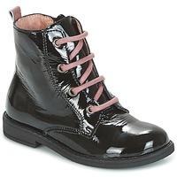 Topánky Dievčatá Polokozačky Citrouille et Compagnie HEMANU Čierna / Ružová