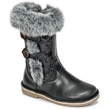 Topánky Dievčatá Čižmy do mesta Citrouille et Compagnie HOSY Čierna