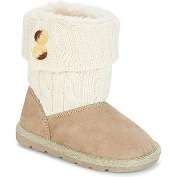 Topánky Dievčatá Polokozačky Chicco CHARME Béžová / Hnedá